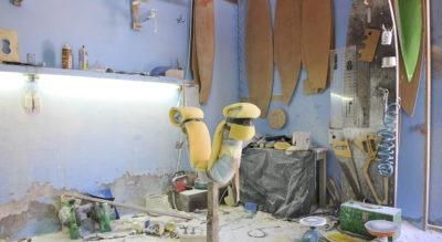 Little Devil Surfboards shaping room