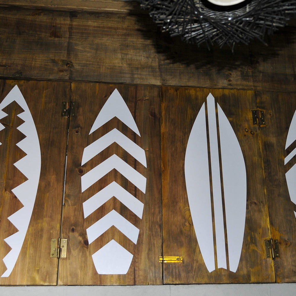 Detalles surfboards inside Tequila surf bar