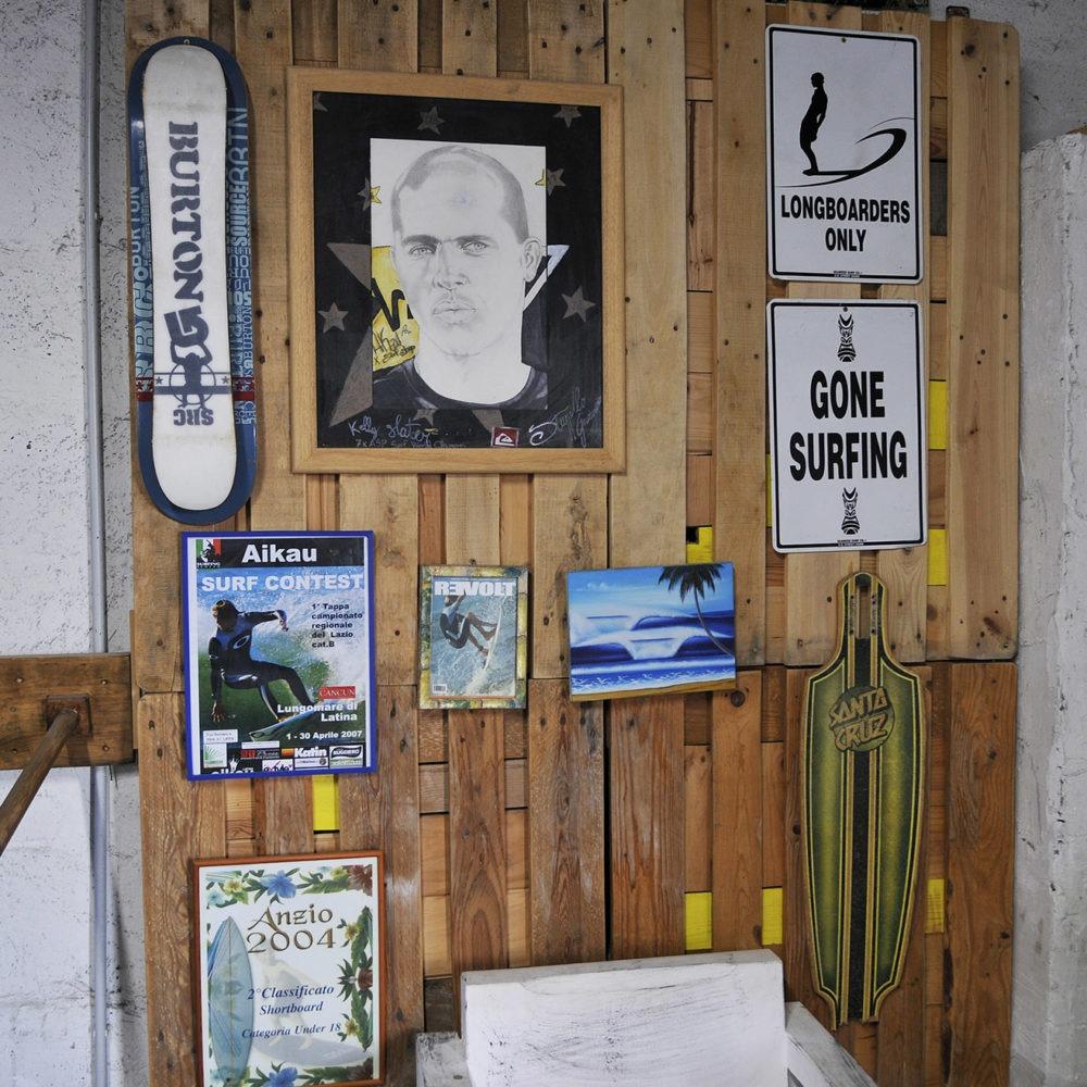 interior de escuela de surf