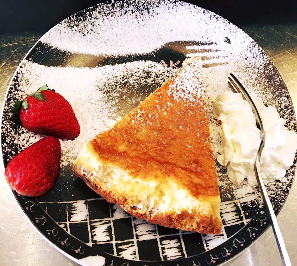 Tarta con nata
