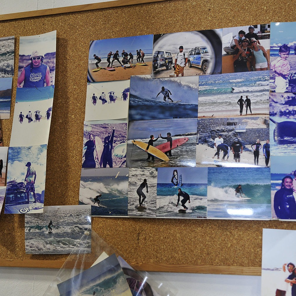 Cuadro con fotos de surf