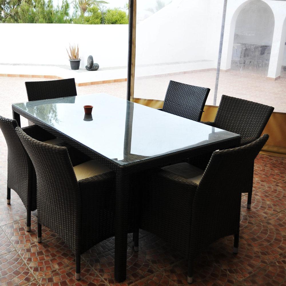 Terraza comedor bahia villa