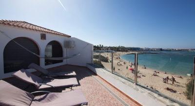 Vista desde terraza bahía villa